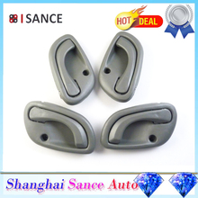 ISANCE GREY Inside Door Handle Front Rear L + R 4pcs 83130-60G01 & 83110-60G01 For SUZUKI GRAND VITARA 1998 1999 2000 2001-2005(China)
