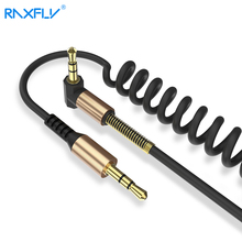RAXFLY 3.5mm Jack Aux Cable 2M Gold Plated Car Spring Audio Cable jack 3.5 male to male speaker cable for Headphone Speaker(China)