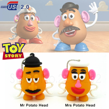 wholesale cute Mr potato head pen drive Toy story series memory Stick 4GB 8GB 16GB 32GB usb flash drive animal u disk(China)