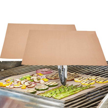 Perfect Grill Bake Non-stick High Temperature Outdoor Barbecue Grill Mat Copper Chef Grill and Bake Mats