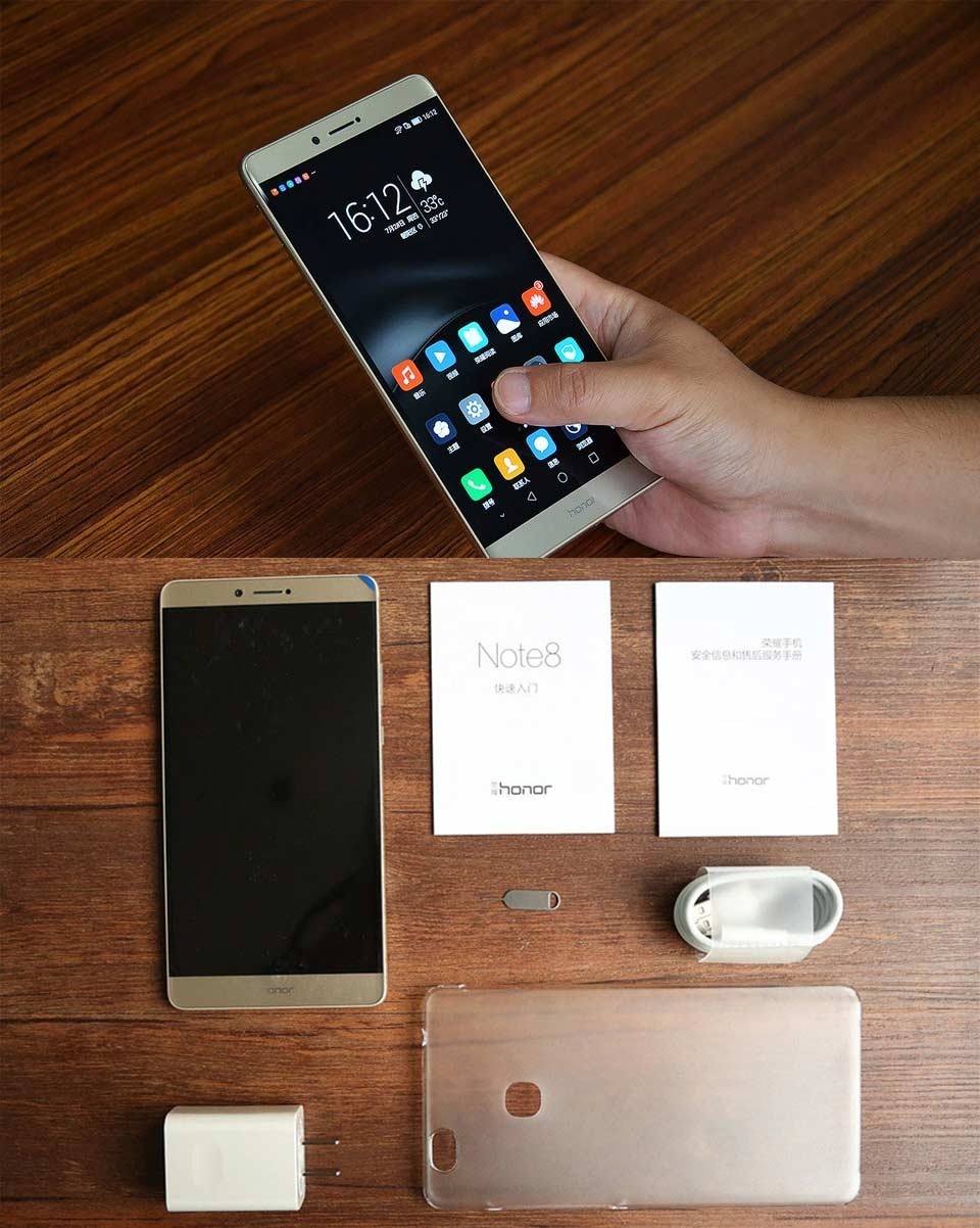 Original Huawei Honor NOTE 8 4G LTE Mobile Phone 4GB 32GB 6.6 inch 2560*1440 Screen Octa Core 2.5GHz Metal Body 4500mAh Battery