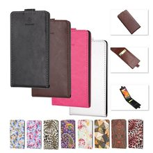 BOGVED Case Flip Cover For DEXP Ixion MS250 Sky Leather Up & Down Mobile Phone Bags & Cases with Card Slot