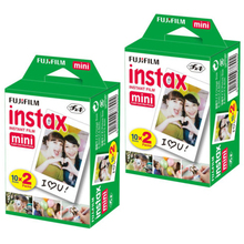 100% Original Fuji Fujifilm Instax Mini 8 Film Blanc 2 Packs 40 Sheets 3 Inch Film For 7s 8 90 25 55 Share SP-1 Instant Camera