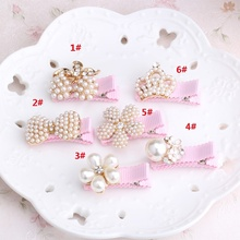 1 pcs Kid Floral Bowknot Hair Clip Children Crown Accessories Baby Flower Cute Hairpin Hairclips Barrettes Hairgrips Headwear(China)
