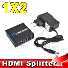 New 1 to 2 HDMI Splitter HDMI Switch 5V 1A Adapter USB Power Supply Cable for XBOX 360 for PS3 1080P 3D HDTV HDCP TV Audio Video