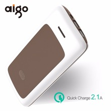 Aigo 20000mAh Power Bank Fashion Stripe Design Large Capacity Dual USB Ports Mobile Battery Charger