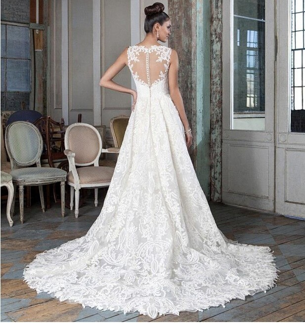 10 Sexy Lace Backless High Low Wedding Dresses 2016 Short Front Long Back Wedding Gown Bridal Bride Dress Custom Made (2)