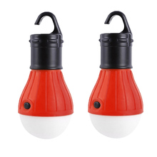 2 Pack Portable LED Lantern Tent Light Bulb for Camping Hiking Fishing Emergency Light, Battery Powered Camping Tent Night Light(China)