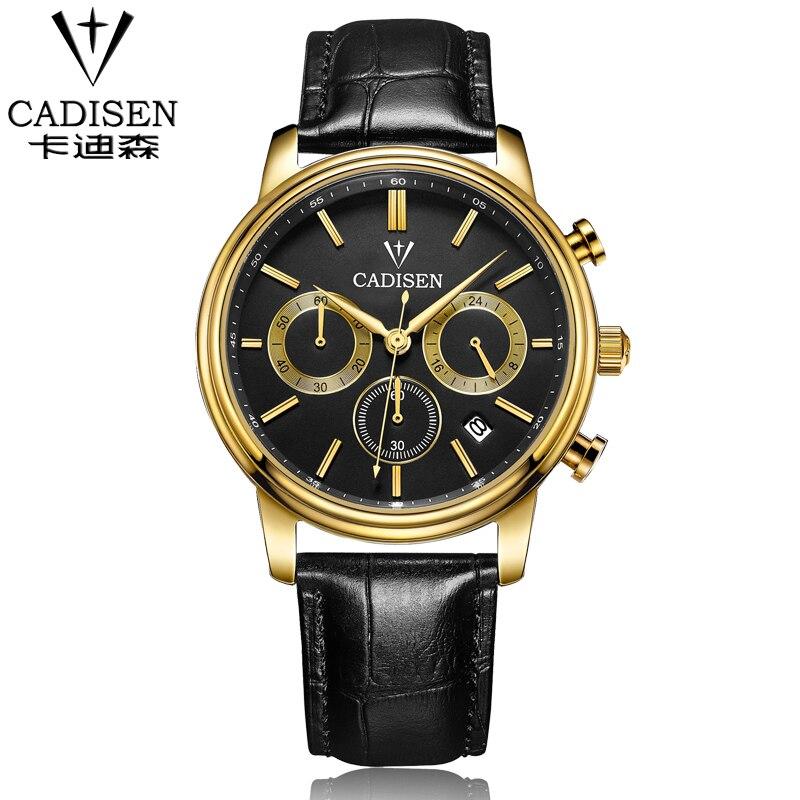 CADISEN Quartz Analog Watches Men Fashion WristWatches Leather Strap Mens Sports Army Military Watch Luxury Brand Famous 2016<br><br>Aliexpress