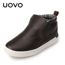 2017 UOVO Brand Newest Mid-cut Autumn Casual Shoes for Boys Typical Style Shoes for Kids Eur.27#-35#(China)