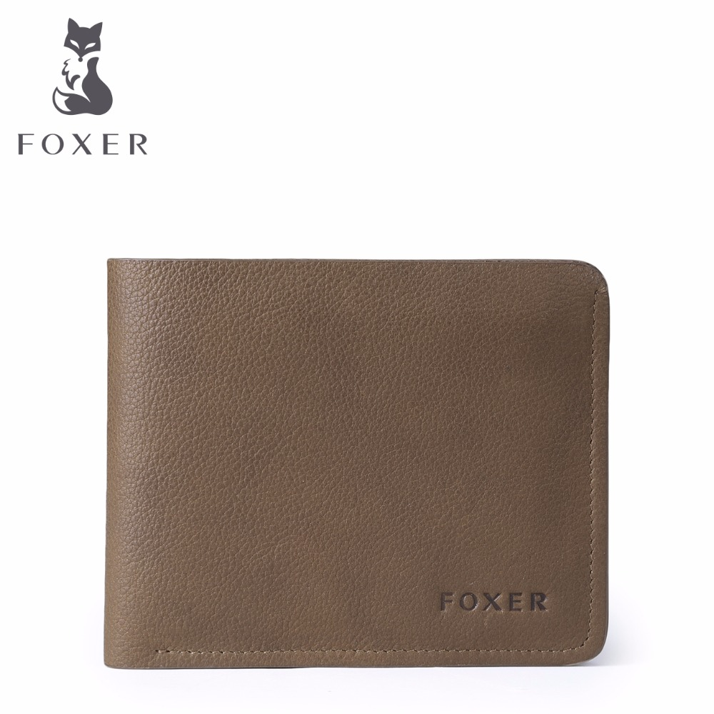 FOXER Brand 2017 Men Wallet Fine Leather Mens Short  Wallets  Genuine leather Purses For Male <br>