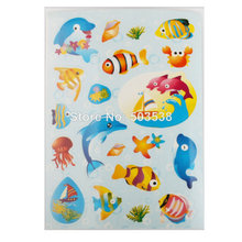 100SHEETS/LOT,Ocean fish paper stickers.Cartoon wall stickers,Switch stickers,Decorative stickers,.On stock.Cheap.Wholesale(China)