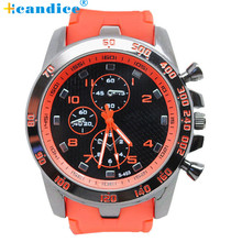 SuperDeals 2015 Fashion New Luxury watch men Rubber strap Large Dial Military Sport Quartz Wrist Watch  Jun 28
