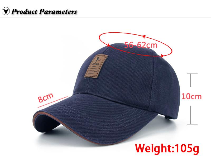Golfer Emblem Baseball Cap - Product Parameters