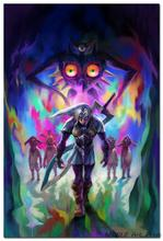 NICOLESHENTING The Legend Of Zelda Majoras Mask Art Silk Poster Huge 12x18 32x48 inches Game Wall Picture Home Room Decor 04
