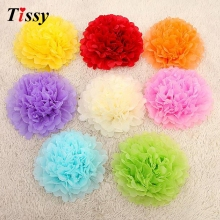 "30pcs mixed 3 sizes (6"",8"",10"") Tissue Paper Pom Poms Flower Balls, Wedding Pom Poms, Baby Shower, Nursery, Wedding Decoration(China)"