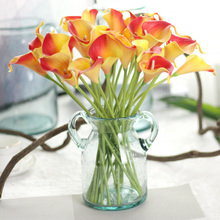 Free shipping real touch Calla lily for home decoration flores Artificial Flowers Cheap bouquet PU Fake flowers Wedding Flowers