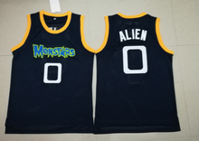 Alien 0 Monstars Basketball Jersey Dark Blue all stitched
