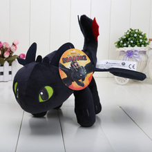 "13"" 33CM  Anime Cartoon How to Train Your Dragon Toothless Night Fury Plush Toy Soft Stuffed Animal Doll"