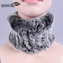 ZDFURS * Rex Rabbit Fur Scarf Women Winter Scarves Hair Band Fashion Trendy Warm Scarf 2017 New Elegant Casual Scarves(China)
