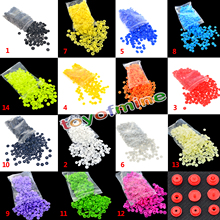 100 Sets sold KAM T5 baby Resin snap buttons plastic snaps clothing accessories Press Stud Fasteners Poppers15 colors 1.2cm