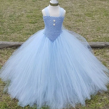 Elegant Princess Cinderella Evening Ball Gown Dance Party Dress Flower Girl Ankle Length Tulle Tutu Dresses For Photograph(China)