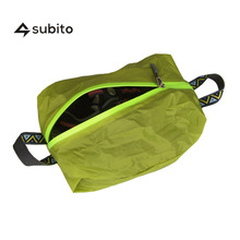 SUBITO XL Size Travel Shoe Bags Waterproof Silicone With Zipper For Men & Women Shoes Pouch Orange, Green, Black, Blue