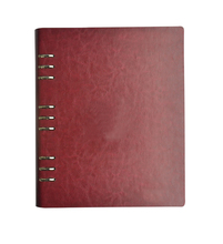 20 pcs/lot High Quality Red Leather Menu Holder Upscale Restaurant Hotel Cafe Bar Menu Cover DIY LOGE Customized Menu Folder
