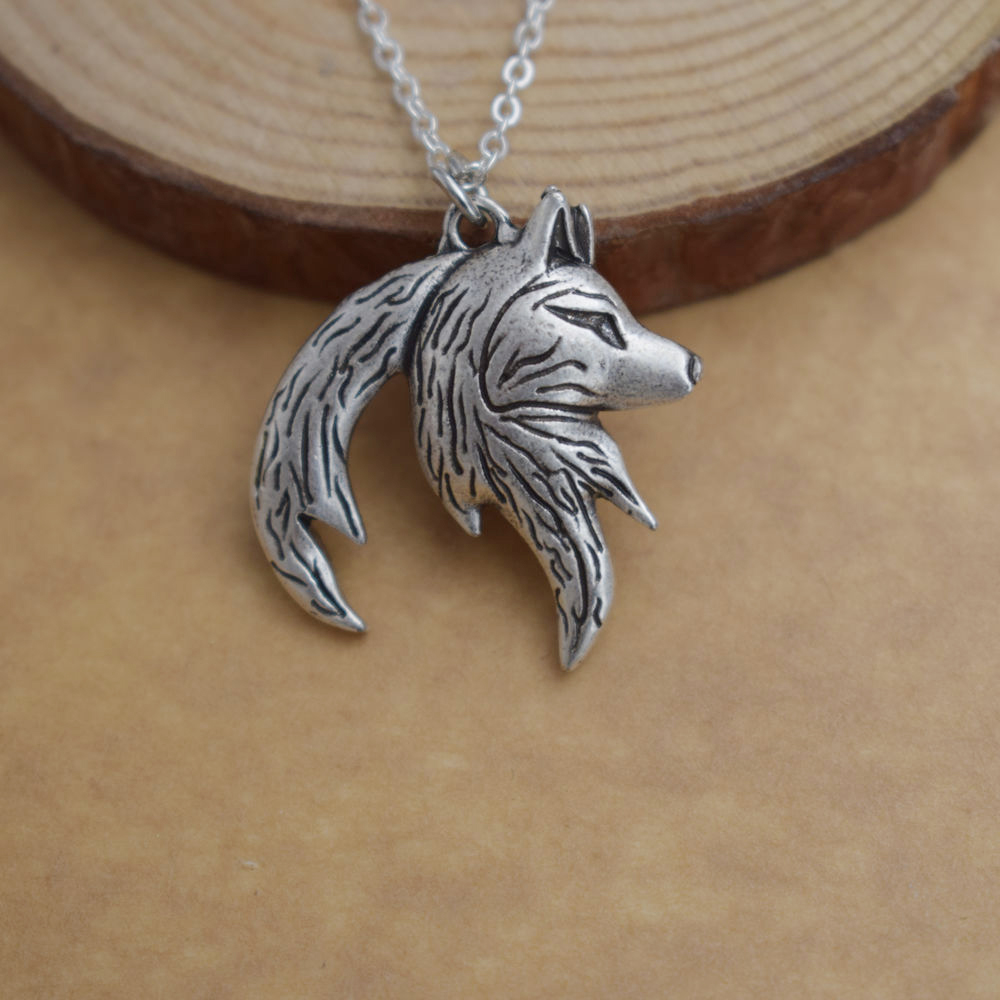 Yin Yang Wolf Necklace For Couples (2 necklaces) silver