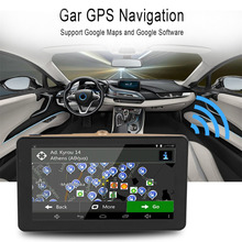 7 Inch Car DVR Vehicle GPS Pianet Navigation USB Navigators  Car Traveling Data RecorderAV-In FM 8GB Smart Bluetooth Truck