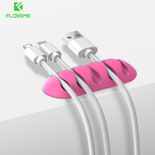 FLOVEME 5 Ports Cable Organizer Holder Cable Winder Clip Management For USB Cable MP3 MP4 Candy Color Charger Data Line Cables