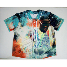 Real American Size Biggie x Notorious  BIg  3D Sublimation Print Custom made Button up baseball jersey plus size