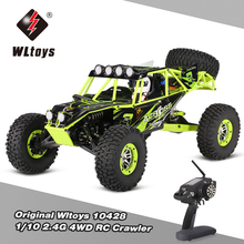 WLtoys Original 10428 1:10 RC Car 2.4G 4WD Electric Brushed Rock Crawler RTR SUV Remote Control Off-road veicoli Model Toy