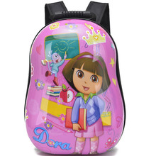 Baby Girls Dora Hard Shell Backpacks/Kids 3D Hello Kitty Primary School Bags/Kindergarten Cartoon Shoulder Bags Mochila
