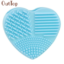 OutTop 1pc Silicone Fashion Egg Cleaning Glove Makeup Washing Brush Scrubber Tool Cleaners New Arrival best seller drop ship(China)