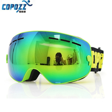 COPOZZ Kids Ski Goggles Double UV400 anti-fog mask glasses skiing Girls Boys Snowboard goggles Brand  Anti-UV Glasses
