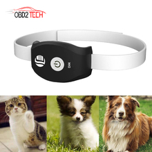 5pcs a lot Waterproof Mini GPS Receiver Pet collar TK208 Pet Gps Tracker Location for Cat Dog