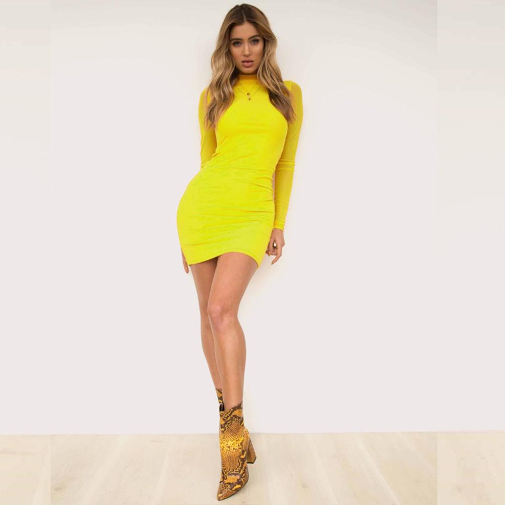 Swaggy HTB1GZ07cBfH8KJjy1Xbq6zLdXXar Langärmliges Slim Kleid