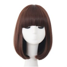 Rockstar Wigs 10Colors Black Brown Short Curly Bob Synthetic Hair Cosplay Wig For Women Heat Resistant Fiber Daily Full Hair