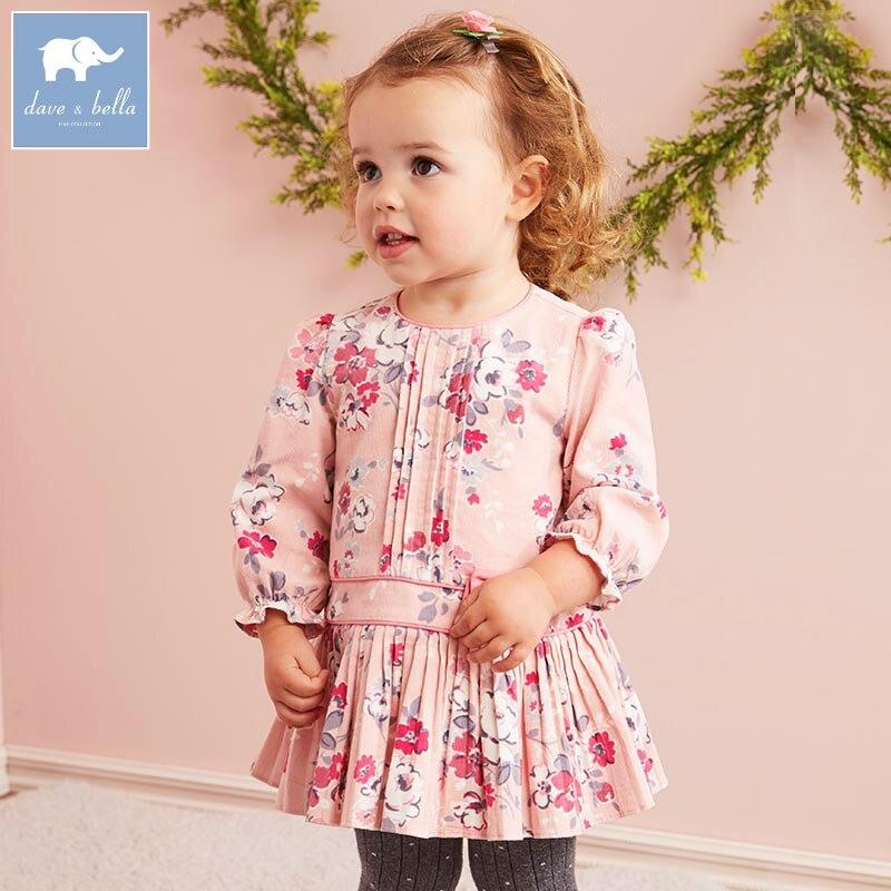 DB5722 dave bella autumn baby girls floral dress kids birthday dress children clothes Infant designs girl vestido<br>