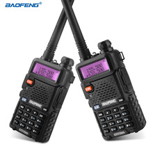 BAOFENG UV-5R Walkie Talkie Professional CB Radio Portable Walkie Talkie Transceiver 10 km VHF UHF Handheld UV For Hunting Radio(China)