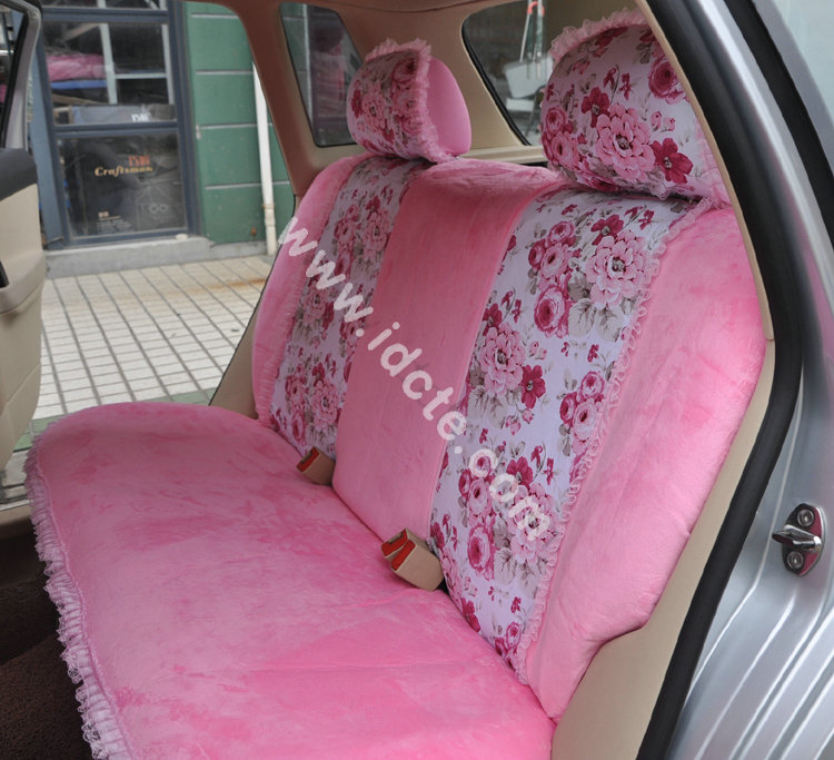 Flower-Print-Lace-Car-Seat-Covers-for-Women-Universal-Short-Plush-Winter-Auto-Seat-Covers-Sets-Interior-Accessories-2