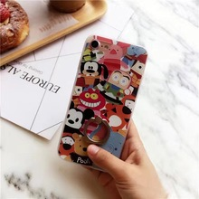 SZYHOME Phone Cases for IPhone 6 6s 7 Plus Case Winnie Pooh Discounted for IPhone 7 Plus Embossment Mobile Phone Cover Capa 8