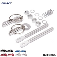 TANSKY -Universal Lightweight Racing Sport Silver Aluminum Hood Pin Kit For Ford Mustang 01-04 TK-SP7220A