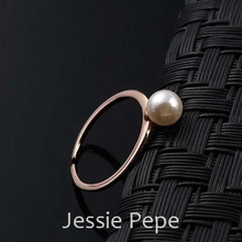 Jessie Pepe Italina Simple Style Simulated Pearl Rings Anel Girl Jewelry Top Quality Welcome Wholesale Free Shipping#JP96905
