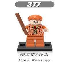 Single Sale Super Heroes Fred Weasley Harry Potter Bricks Luna Action Building Blocks Collection Toys children Gift XH 377 - Minifigures store