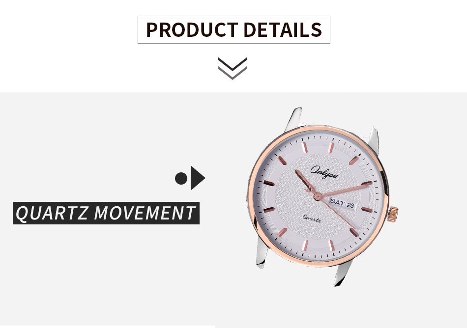 ONLYOU Luxury Fashion Men Watch Top Brand Lover Watch Dress Business Ladies Week Display Leather Women Quartz Watches reloj