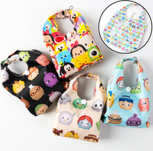 35cm Tsum Tsum Mickey Minnie Convenient Foldable Bag Casual Environmental Protection Pouch Reusable Shopping Bags Plush Backpack