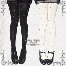 Buy Princess sweet lolita pantyhose Japanese girl harajuku cross restoring ancient ways Printing pantyhose LKW12