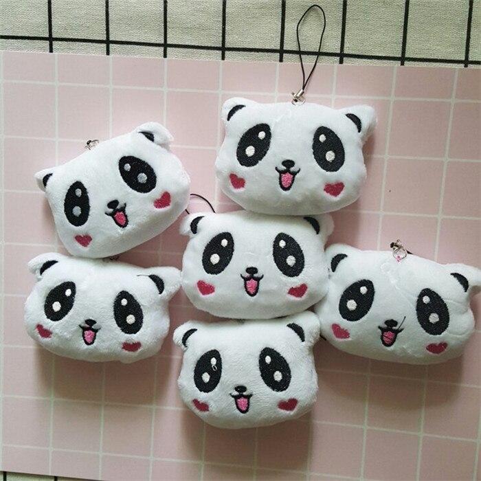 Fashion Panda Emoji Plush Toys Key Chain Ring Pom Bear Keychain Woman Bag Charms Man Car Keyring Wedding Party Trinket Jewelry (12)